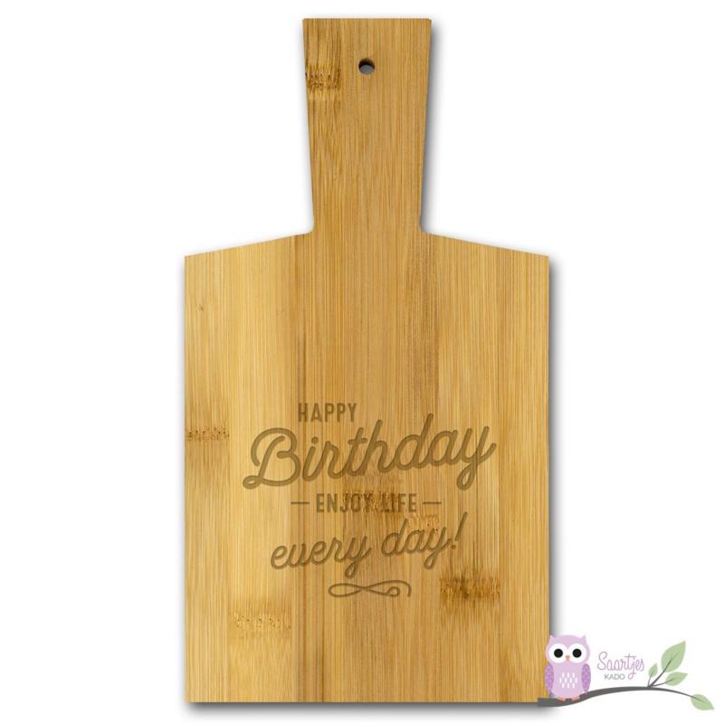 Borrelplank Happy Birthday