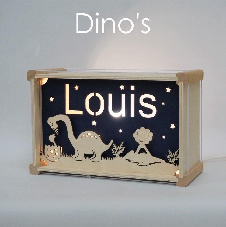 Deluxe Naamlamp met Thema: Dino's