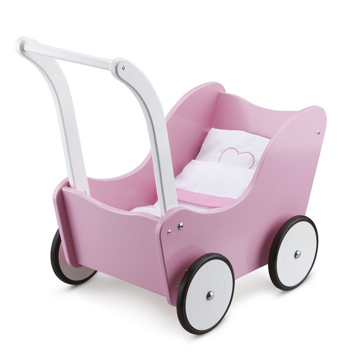 Poppenwagen roze (New Classic Toys)