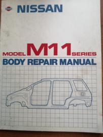 Body repair manual '' Model M11 series '' BR9E-0M11G0 Nissan Prairie M11