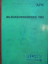 Milieukeuringseisen APK 1993