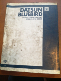 Servicehandleiding '' Model 910 serie Datsun Bluebird '' SM0D-0910H0