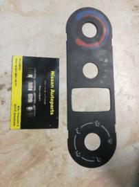 Etiket / symbolenplaat kachelbedieningspaneel Nissan  27570-BN000