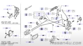 Deurgreep buitenzijde portier linksvoor Nissan Micra K11 80607-4F100