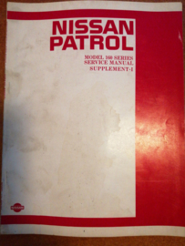 Service manual '' Model 160 series supplement-I '' Nissan Patrol 160
