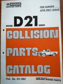 Collision parts catalog model D21 series Nissan King Cab D21 EC-082