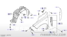 Zijscherm Nissan Micra K12 links 63101-AX630