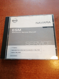 Electronic Service manual '' Model D40 series 1st edition'' Nissan Navara D40 SM5E00-1D40E0E