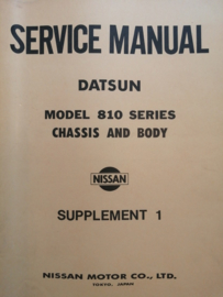 Service manual '' Model 810 series Chassis and Body Supplement 1 '' Datsun Bluebird 810 SM8E-081SG0