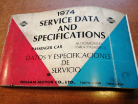 Service Data and Specificaties 1974 SD4Z-P000G0