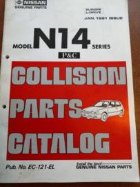 Collision parts catalog model N14 series Nissan Sunny N14 EC-121-EL