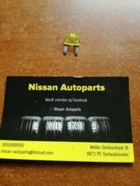 Minizekering 20A geel Nissan 24319-C9920