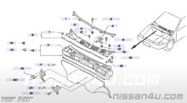 Sierlijst onder voorruit Nissan Sunny N13 72772-50M00