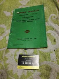Service bulletin Nissan Datsun volume 120 Datsun 2000/2400/d