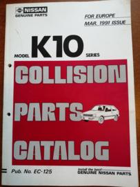 Collision parts catalog model K10 series Nissan Micra K10 EC-125
