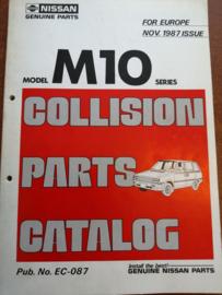 Collision parts catalog model M10 series Nissan Prairie M10 EC-087