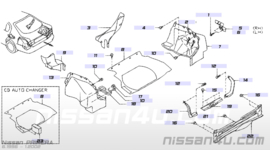 kofferbakstrip Nissan Primera P11 hatchback 84921-2F700