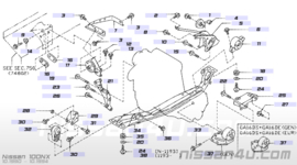 Motorsteunrubber, voorste, Nissan 100NX / Sunny 11350-50Y00