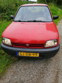 Nissan Micra K11 CG10DE rood 1993