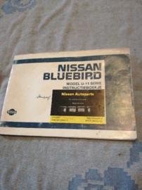 Instructieboekje '' Nissan Bluebird U11 '' OM5D-OU11HO