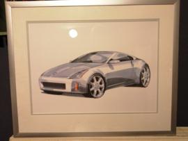 Poster in lijst Nissan 350Z