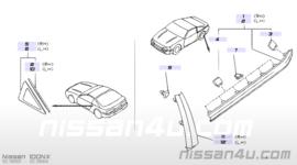Sierstrip zijruit links Nissan 100NX B13 83821-61Y00