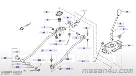 Veer schakelmechanisme Nissan Micra K11 34573-4F400