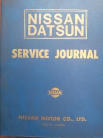 Nissan Datsun service journal map met verzameling Service bulletin's