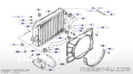 Bovenste koelwaterslang Nissan Patrol 160 21501-C6010