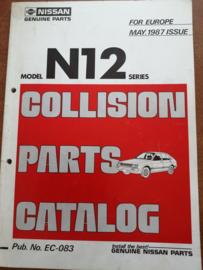 Collision parts catalog model N12 series mei 1987 EC-083