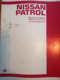 Service manual '' Model 160 series supplement-IV '' Nissan Patrol 160 SM6E-160SG0