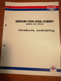 Product Bulletin Volume 2 '' Datsun 120A-100A / Cherry Model N10 serie ''