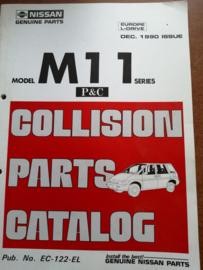 Collision parts catalog model M11 series Nissan Prairie M11 december 1990 EC-122-EL