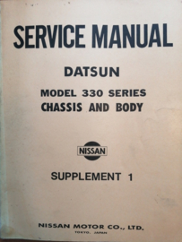 Service manual '' Model 330 series Chassis and Body Supplement 1 '' Datsun Cedric 330