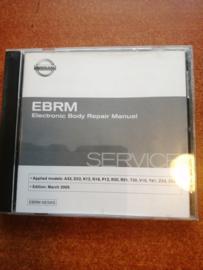 Electronic Body Repair Manual '' Model A33/ D22 / K12/ N16/ P12/ R20/ R51/ T30/ V10/ Y61/ Z33/ Z50