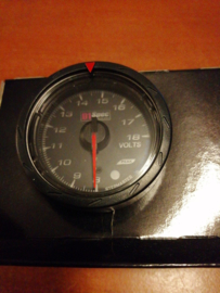 D1 spec gauge volt black 52mm