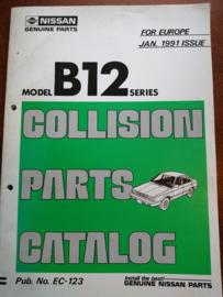 Collision parts catalog model B12 series Nissan Sunny B12 EC-123
