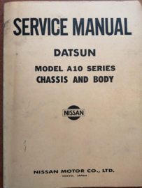 Service manual '' Model A10 series chassis & body '' Datsun Violet A10