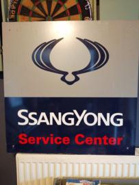 Reclamebord SSangYong Service Center