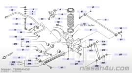 Hulpveer achteras Nissan Terrano2 R20 55060-0F600