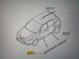 Sierstrip portier rechtsvoor Nissan Qashqai J11 80870-4EA0A