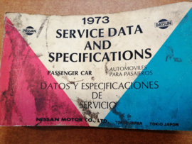 Service Data and Specificaties 1973 SD3Z-P000G0