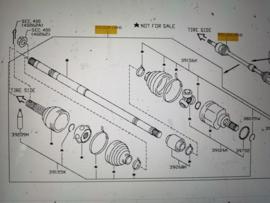 Aandrijfas rechtsvoor Nissan Micra K14 39100-5FF0A BR10DE
