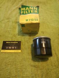 Motoroliefilter Mann W712/22