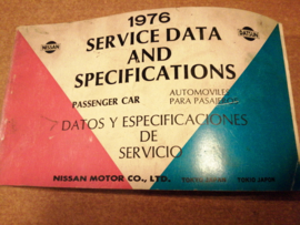Service Data and Specificaties 1976 SD6Z-P000G0