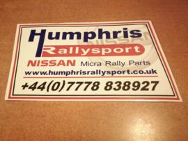 Sticker ''Humphris Rallysport''