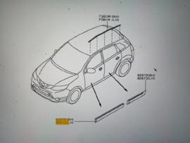 Sierstrip portier linksvoor Nissan Qashqai J11 80871-4EA0A