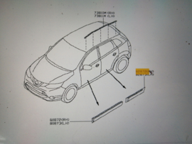 Sierstrip Nissan Qashqai J11. Linker achterportier 82871-4EA0A