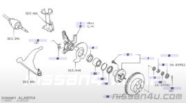 Remschijf Nissan Almera N15. Vooras 40206-0M601 GA14DE