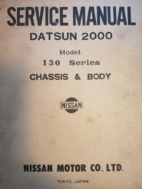 Service Manual '' Model 130 series Chassis And Body '' Datsun 2000 40130010